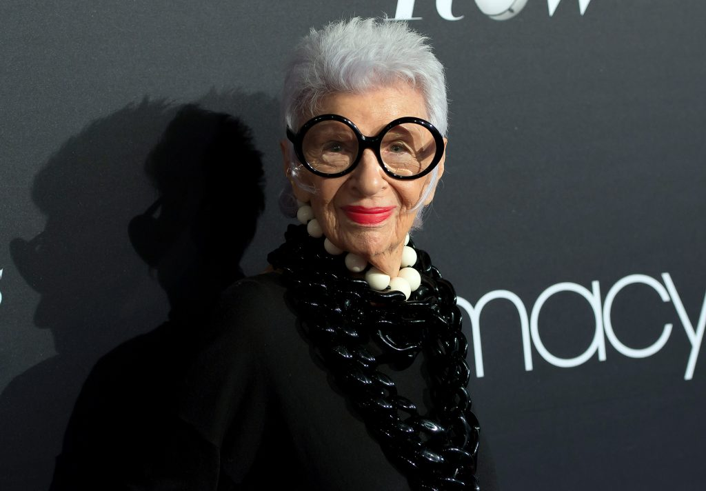 NEW YORK, NY - SEPTEMBER 07: Fashion icon Iris Apfel attends Macy's Fashion's Front Row during September 2016 New York Fashion Week at The Theater at Madison Square Garden on September 7, 2016 in New York City. (Photo by Mike Pont/WireImage) *** Local Caption *** Iris Apfel