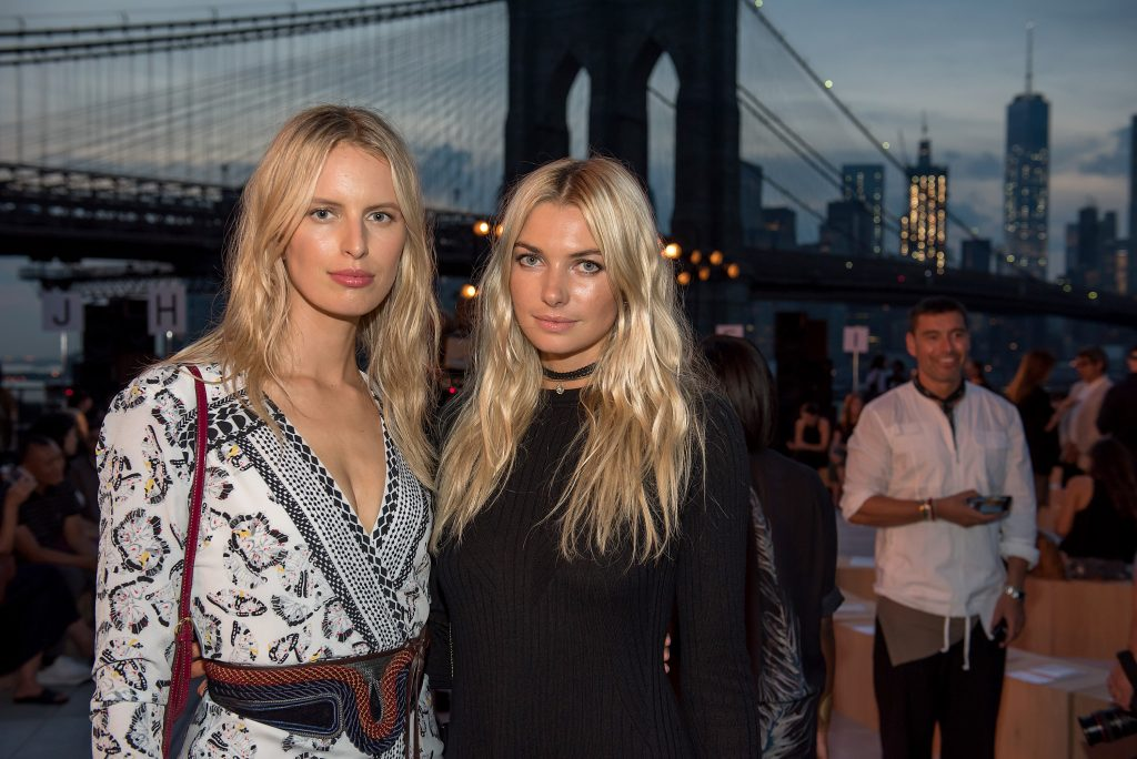NEW YORK, NY - SEPTEMBER 08: Models Karolina Kurkova and Jessica Hart attend the Thakoon fashion show during September 2016 New York Fashion Week on September 8, 2016 in New York City. (Photo by Mike Pont/WireImage) *** Local Caption *** Karolina Kurkova;Jessica Hart