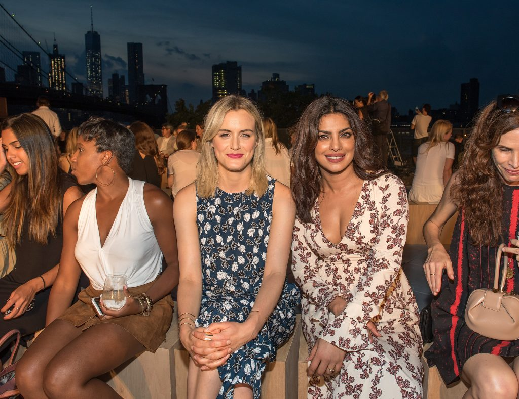 NEW YORK, NY - SEPTEMBER 08: Actors Taylor Schilling and Priyanka Chopra attend the Thakoon fashion show during September 2016 New York Fashion Week on September 8, 2016 in New York City. (Photo by Mike Pont/WireImage) *** Local Caption *** Priyanka Chopra;Taylor Schilling
