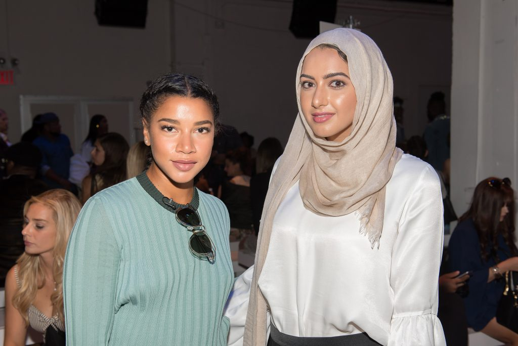 NEW YORK, NY - SEPTEMBER 12: Hannah Bronfman (L) and Summer Albarcha attend the Leanne Marshall fashion show during New York Fashion Week September 2016 at The Gallery, Skylight at Clarkson Sq on September 12, 2016 in New York City. (Photo by Mike Pont/WireImage) *** Local Caption *** Summer Albarcha;Hannah Bronfman