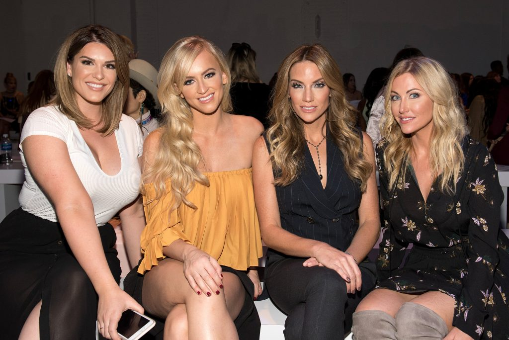 NEW YORK, NY - SEPTEMBER 12: (L-R) Marissa Stacey, WWE Diva Summer Rae, Cary Deuber and Stephanie Hollman attend the Leanne Marshall fashion show during New York Fashion Week September 2016 at The Gallery, Skylight at Clarkson Sq on September 12, 2016 in New York City. (Photo by Mike Pont/WireImage) *** Local Caption *** Marissa Stacey;Summer Rae;Cary Deuber;Stephanie Hollman