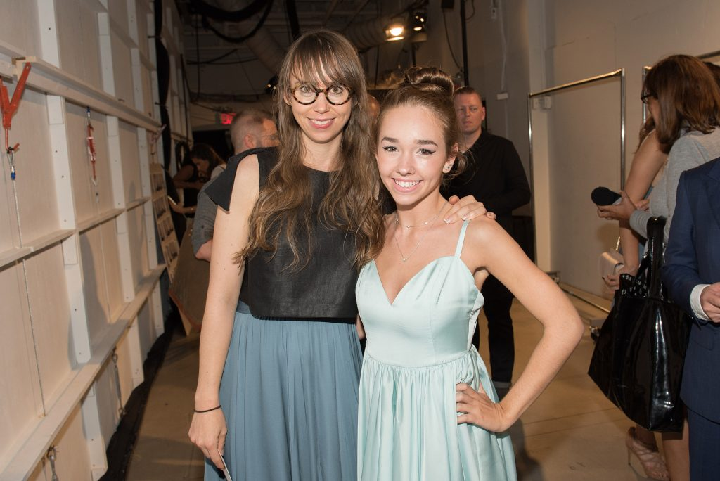 NEW YORK, NY - SEPTEMBER 12: Designer Leanne Marshall (L) and actress Holly Taylor attend the Leanne Marshall fashion show during New York Fashion Week September 2016 at The Gallery, Skylight at Clarkson Sq on September 12, 2016 in New York City. (Photo by Mike Pont/WireImage) *** Local Caption *** Leanne Marshall;Holly Taylor